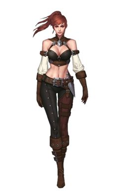 Female Human Rogue - Pathfinder PFRPG DND D&D 3.5 5th ed d20 fantasy