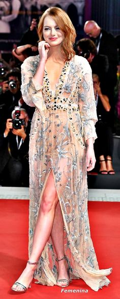 Emma Stone in Louis Vuitton -Venice Film Festival Celebrity Gowns, Celebrity Style, Emma Stone Red Carpet, Emma Stone Style, Actress Emma Stone, My Fair Lady, Red Carpets, Red Carpet Dresses, Red Carpet Fashion