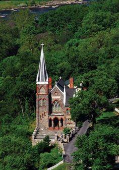 St. Peter's Roman Catholic Church, Harpers Ferry, W.Va.    Credit: WV Department Of Commerce