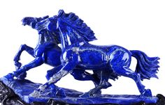 [Hot Item] Lapis Lazuli Couple Horse Sculpture for Sale Crystals Minerals, Rocks And Minerals, Blue Horse, Sculptures For Sale, Horse Sculpture, Stone Carving, Chinese Art, Art History, Sculpting