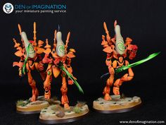 Orange Eldar Army - Den of Imagination