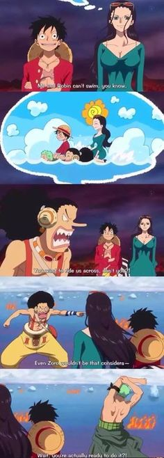 This is why I love Zoro. If it was anyone but Luffy, he wouldn't do it. Respect for his captain !