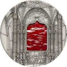 2011 Palau 2 oz $10 silver coin - Tiffany Art (Manueline).