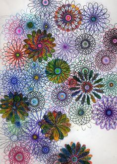 Spirograph madness 1 by ~persephone-the-fish on deviantART