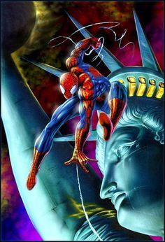 #Spiderman #Fan #Art. (Spider-Man) By: Dimitri Patelis. (THE * 5 * STÅR * ÅWARD * OF: * AW YEAH, IT'S MAJOR ÅWESOMENESS!!!™)[THANK Ü 4 PINNING!!!<·><]<©>ÅÅÅ+(OB4E)