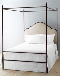 LaSalle Iron Bed- the canopy is optional!  Awesome idea to have that flexibility.