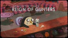 """""""Reign of Gunters"""" Title Card  Michelle and Nick's title card for Monday night's new episode. There will be penguins."""