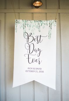 The New Luxe Wedding - Why handmade is the new luxury for wedding day decor; customize and personalize your wedding with ease. | Best Day Ever Banner by www.ZCreateDesign.com or Shop ZCreateDesign on Etsy
