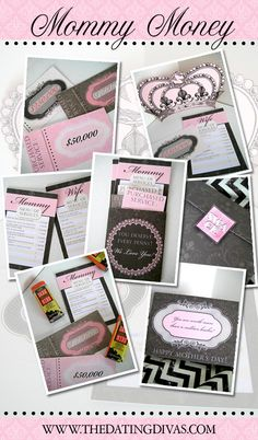 """Printable """"Mommy Money"""" for Mother's Day!  Free download!"""