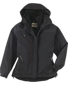 The Ash City - North End Ladies' 3-In-1 Mid-Length Jacket is available in Sizes S-3XL. It can be purchased in your choice of the following colors: Black and Midnight Navy.