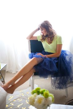 blue and green Fashion Photo, Fashion Beauty, Blue Tutu, Tulle Skirts, Color Azul, Mode Inspiration, Swagg, Playing Dress Up, Passion For Fashion