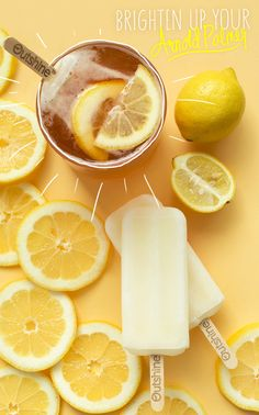 The taste of summer! Dip your Outshine Lemon bar in a glass of sweet iced tea for a fun take on an Arnold Palmer. Yummy Drinks, Delicious Desserts, Dessert Recipes, Yummy Food, Tasty, Frozen Desserts, Frozen Treats, Do It Yourself Food, Arnold Palmer