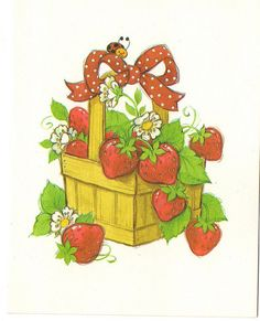 Vintage Strawberry Shortcake blank card with Luckybug the ladybug on the front. Strawberry Shortcake Cartoon, Strawberry Tattoo, Rainbow Brite, Holly Hobbie, Strawberry Fields, Blank Cards, Clipart, Paper Dolls, Cute Kids