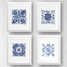 These Mediterranean themed tile art prints are the perfect accent to add an European flair to your favorite room. Unique and distinct, these tile designs are inspired our travels across Brazil and Southern Europe.  This item includes 4 prints, one of each design, lovingly shipped to your home in secure packaging.  Print size available in 5x7, 8x10, and 11x14.