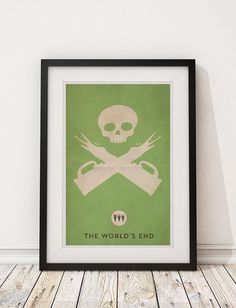 The World's End - Edgar Wright - Three Flavours Cornetto Trilogy - 12x18 Poster