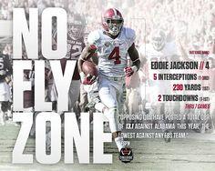 "Eddie Jackson ""No Fly Zone"" by Crimson Tide Football"