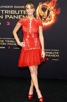"""Jennifer Lawrence attends the Berlin premiere of """"The Hunger Games"""" on March 16, 2012."""