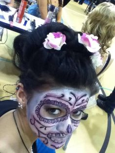 Updo and makeup by Brandi for Boces competition.