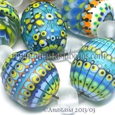 """anastasia+lampwork+beads   Anastasia Lampwork Beads 7 """"Easter Eggs"""" SRA   eBay ...   Lampwork"""