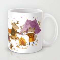 Buy Critters: Fall Camping by Teagan White as a high quality Mug. Worldwide shipping available at Society6.com. Just one of millions of products available.