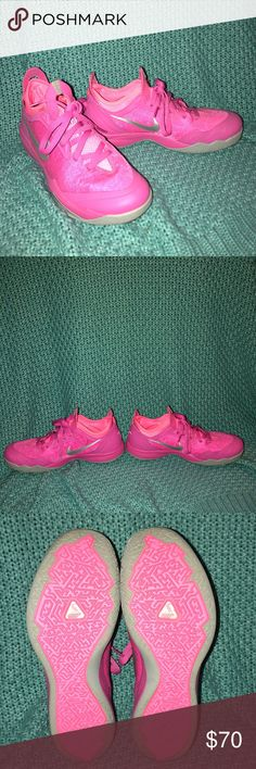 Pink Nike Crusader Basketball Shoes EUC- worn 2 or 3 times. Breast Cancer Awareness Edition basketball sneakers. Nike Shoes Sneakers
