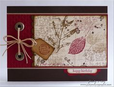 fall, I LOVE this woman's cards!  Clean, simple lines-- and creative!