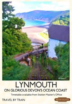 An exciting range of new stylized prints paying homage to Railway advertising posters of the Posters Uk, Train Posters, Railway Posters, Modern Posters, Beautiful Posters, Beautiful Places, Places To Travel, Places To Visit, British Travel
