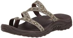 Skechers Women's Reggae Summer Paradise Flip Flop -- Awesome product. Click the image : Slides sandals