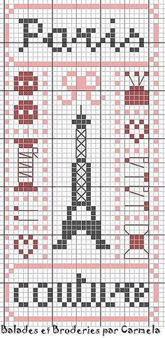 Paris Cross Stitch Chart