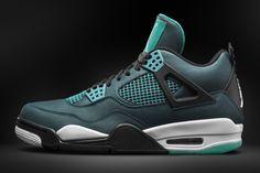 Nike Air Jordan 4 Retro - Teal/White/Black