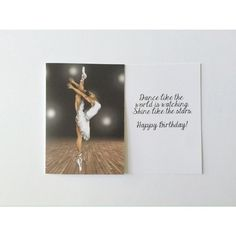 """Dance Like the World is Watching"" Birthday Card"