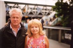 Mum and dad on the day of my graduation. 35mm Canon AE-1 Program film photography.  Rob King