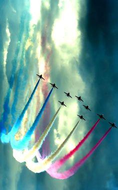 Airplane aerobatic show