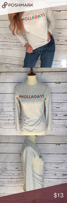 Holladays  Long Sleeve pull over shirt Size 12 Size:12 Shoulder:16 Sleeve:19 Length:24 Width:17/5  Condition: new without tag Country manufacture:Cambodia  Please check the photos for more details and contact me for more question. Thank you for looking at my listing. another story Tops Blouses