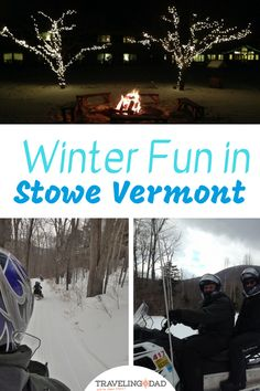 Looking for snowmobile rentals in Stowe? We toured through the backwoods of Mount Mansfield. It will complete your things to do in Vermont list! Vermont Winter, Stowe Vermont, Burlington Vermont, Winter Fun, Winter Travel, Winter Snow, Stuff To Do, Things To Do, Winter Vacations