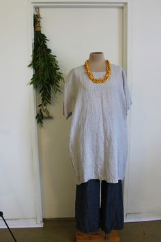 Orange Jumpers, Baggy Tee, Taupe, Beige, Tee Dress, Linen Fabric, Minimalist, Etsy Shop, Pockets