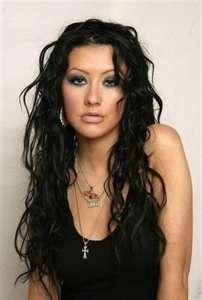 I loved when Christina Aguilera had black hair
