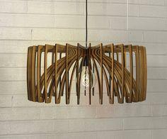 wood Pendant Light lasercut Chandelier lamp by AAarchiTECtureLab