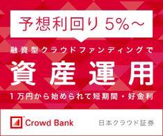 Crowd Bank 融資型クラウドファウンディングで資産運用 300x250