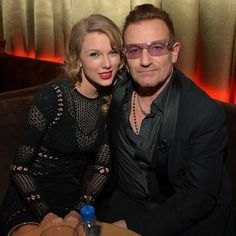 Tay with Bono at the after party