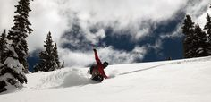 Snowboarding Powder turns with Weston Snowboards https://mtnweekly.com/reviews/snowboards/weston-big-chief-splitboard