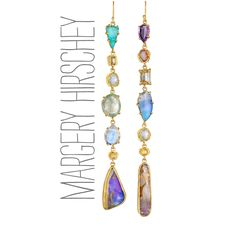 Exquisite, one of a kind, fine jewelry made from recycled 22k & 18k gold with blackened silver, incorporating beautifully colored stones and rose cut diamonds