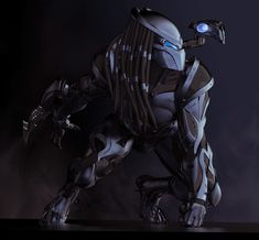 I did a redesign of the Predator during a workshop with Josh Herman at the Concept Art Workshop. This is one of my final renders. I wanted show him in a more futuristic and evolved state. All modeling was done in Zbrush (no retopology). Predator Movie, Apex Predator, Alien Vs Predator, Wolf Predator, Armor Concept, Concept Art, Urban Survival Kit, Predator Costume, Robot Animal
