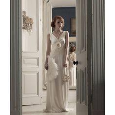 Campaign  photo. #gatsbystyle #silk #madeinbritain  #weddingdress  #huntthatdress  #elegantsimplicity #frenchlace  #vintage  #vogue