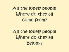 The Beatles - Eleanor Rigby- a great example of the power of lyrics-telling a tremendous story in just a few words
