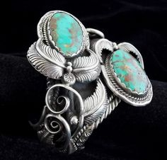 Cuff | St. Paul (Navajo).  Sterling silver and turquoise.  ca. 1977