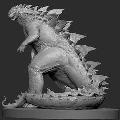 Godzilla 2014 Concept Artwork Creature Design in ZBrush