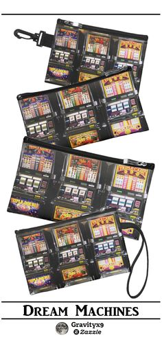 Dream Machines - Lucky Slot Machines Coin Purse, Wristlets, Mini Clutch and more options for this item  by #LasVegasIcons at Zazzle.