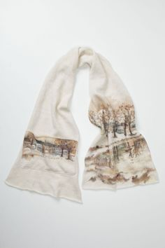 Winter Visit Scarf //Anthropologie.com ~i love scenic prints on clothes