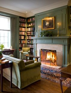 Beautiful millwork in this colonial library